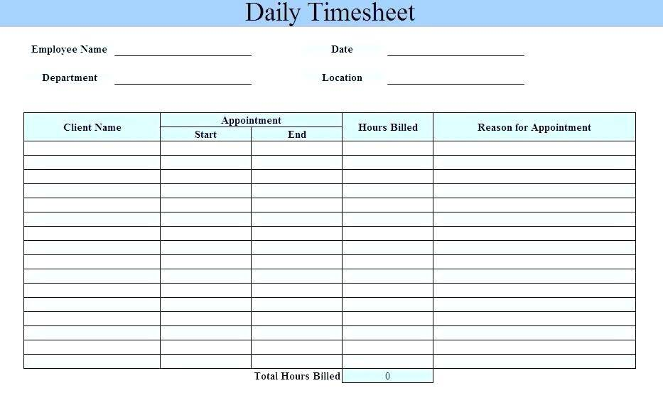 Timesheet Templates Excel Uk