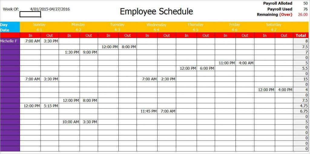 Timetable Maker Template