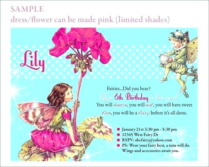 Tinkerbell 1st Birthday Invitation Templates