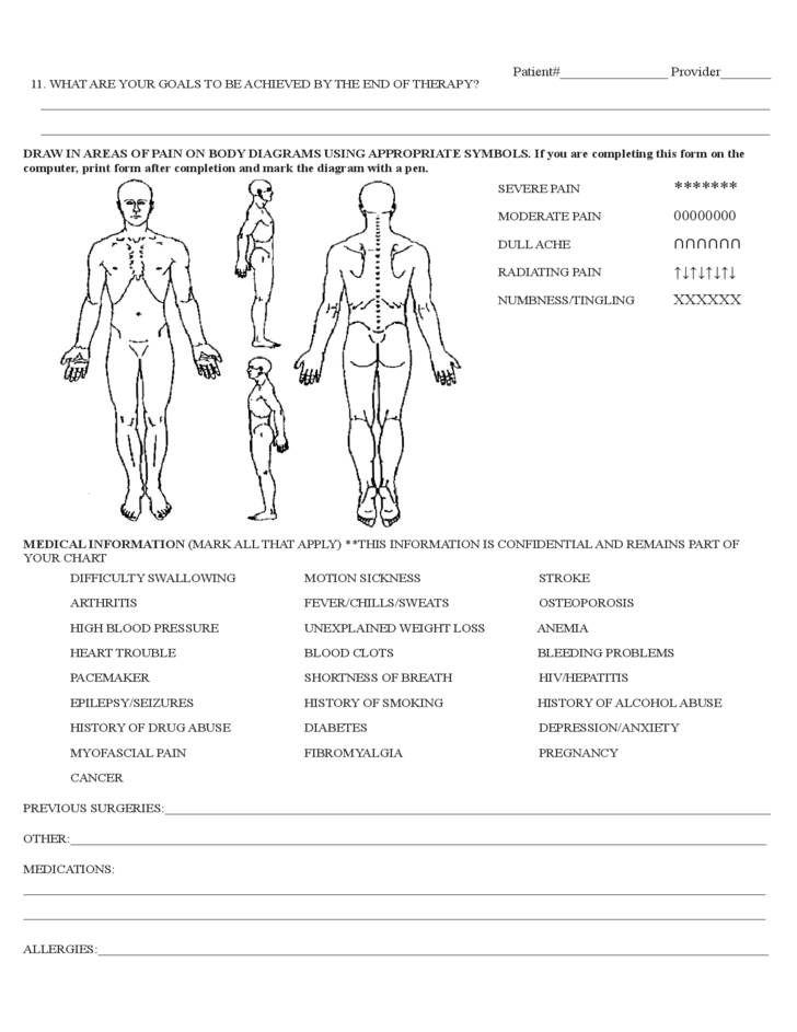 Tmj Physical Therapy Evaluation Template