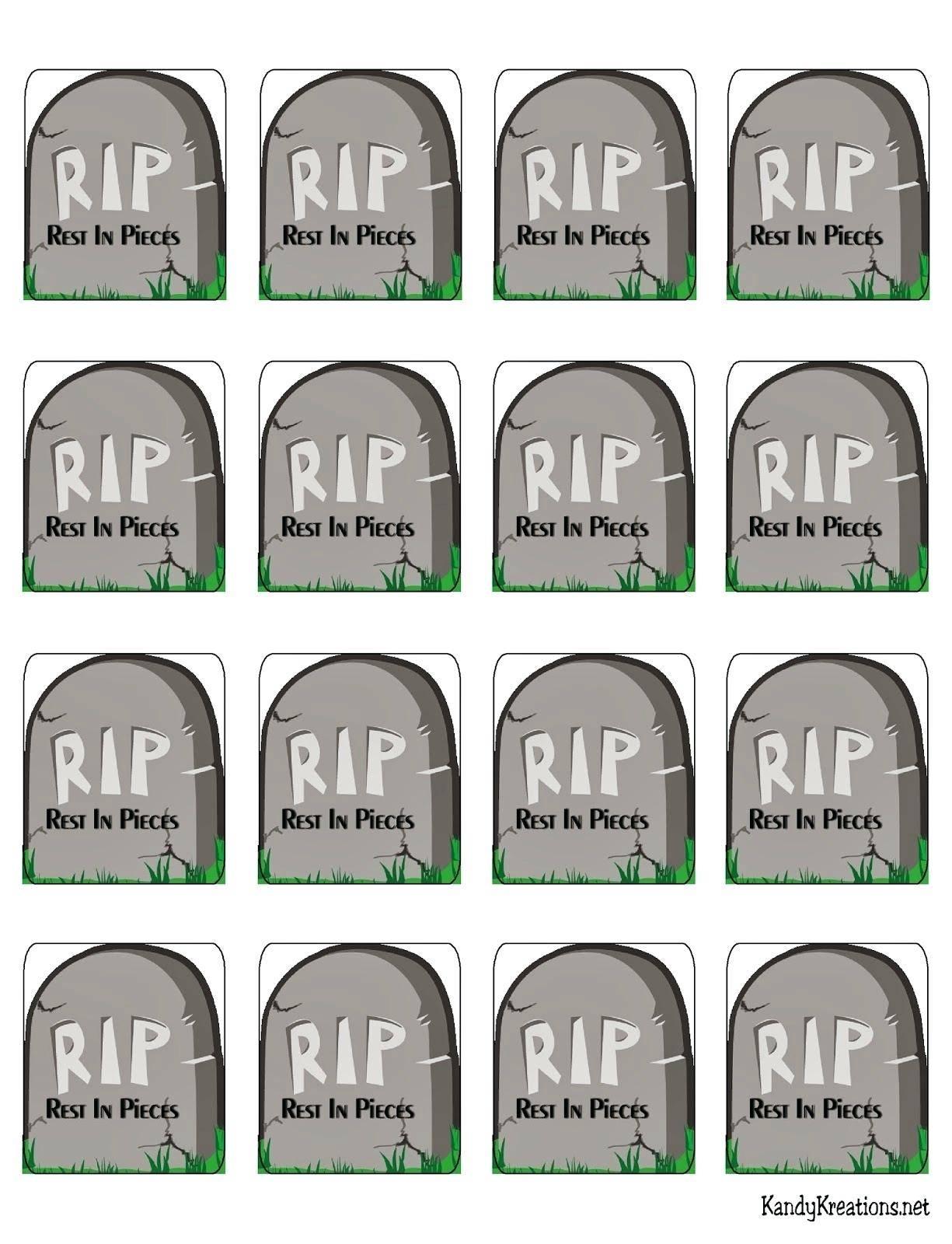 Tombstones For Halloween Templates