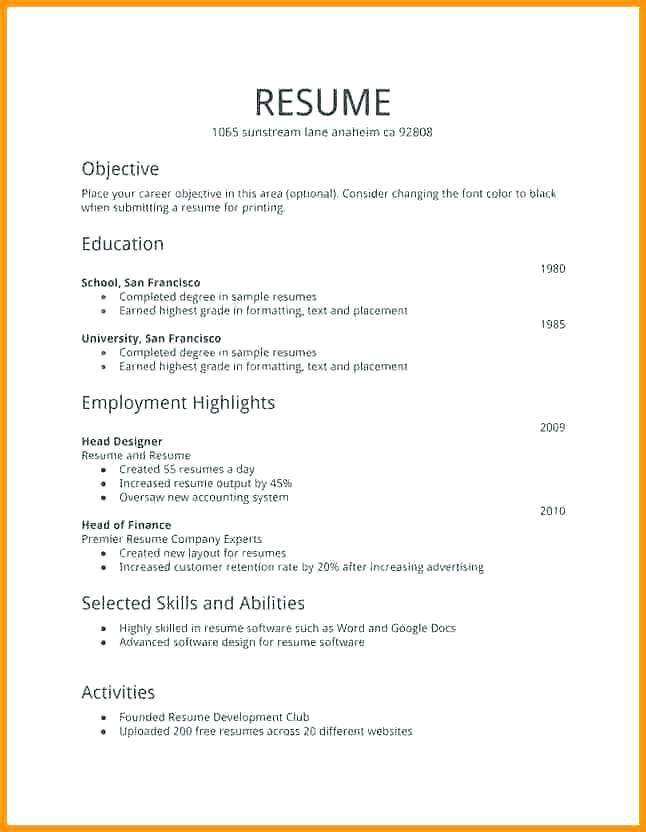 Top Rated Free Resume Templates