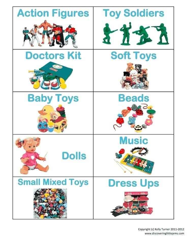 Toy Bin Labels Template