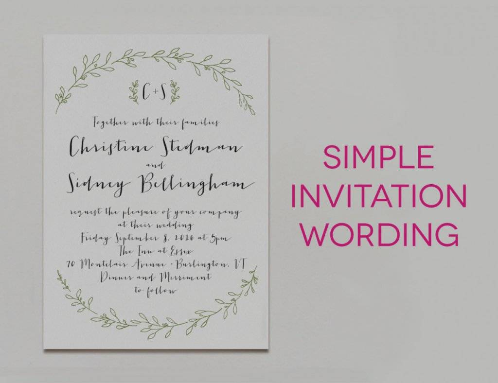 Traditional Wedding Invitation Wording Templates