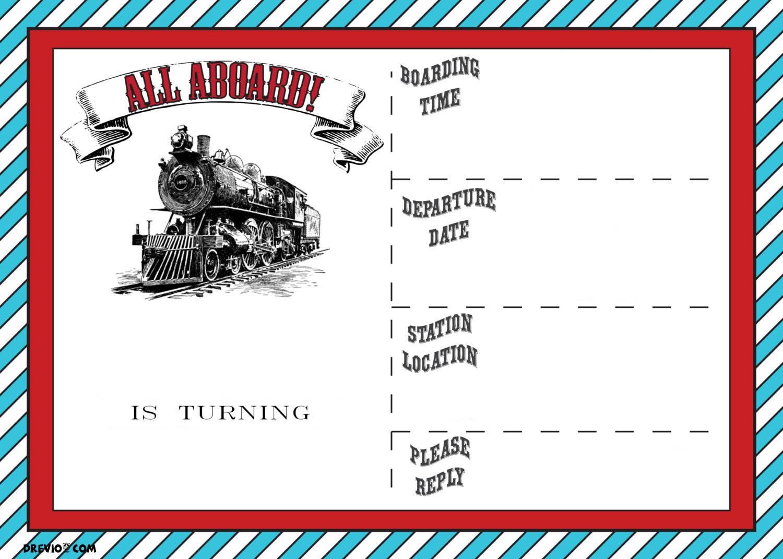 Train Ticket Party Invitation Template