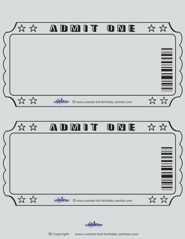 Train Ticket Stub Template