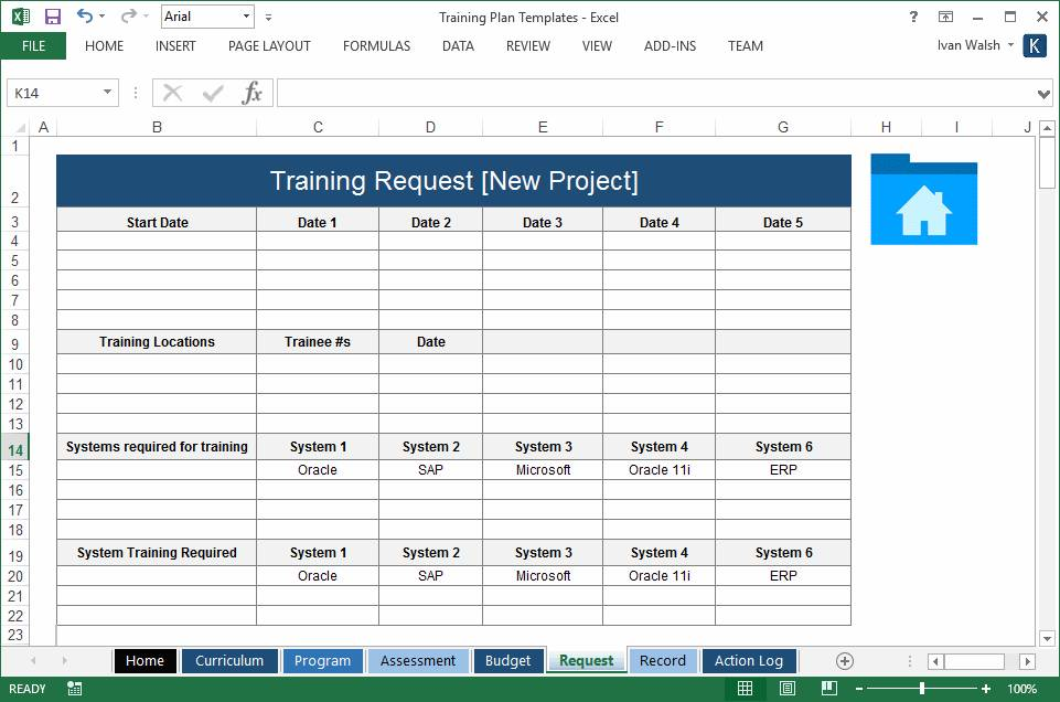 Training Plan Templates Excel