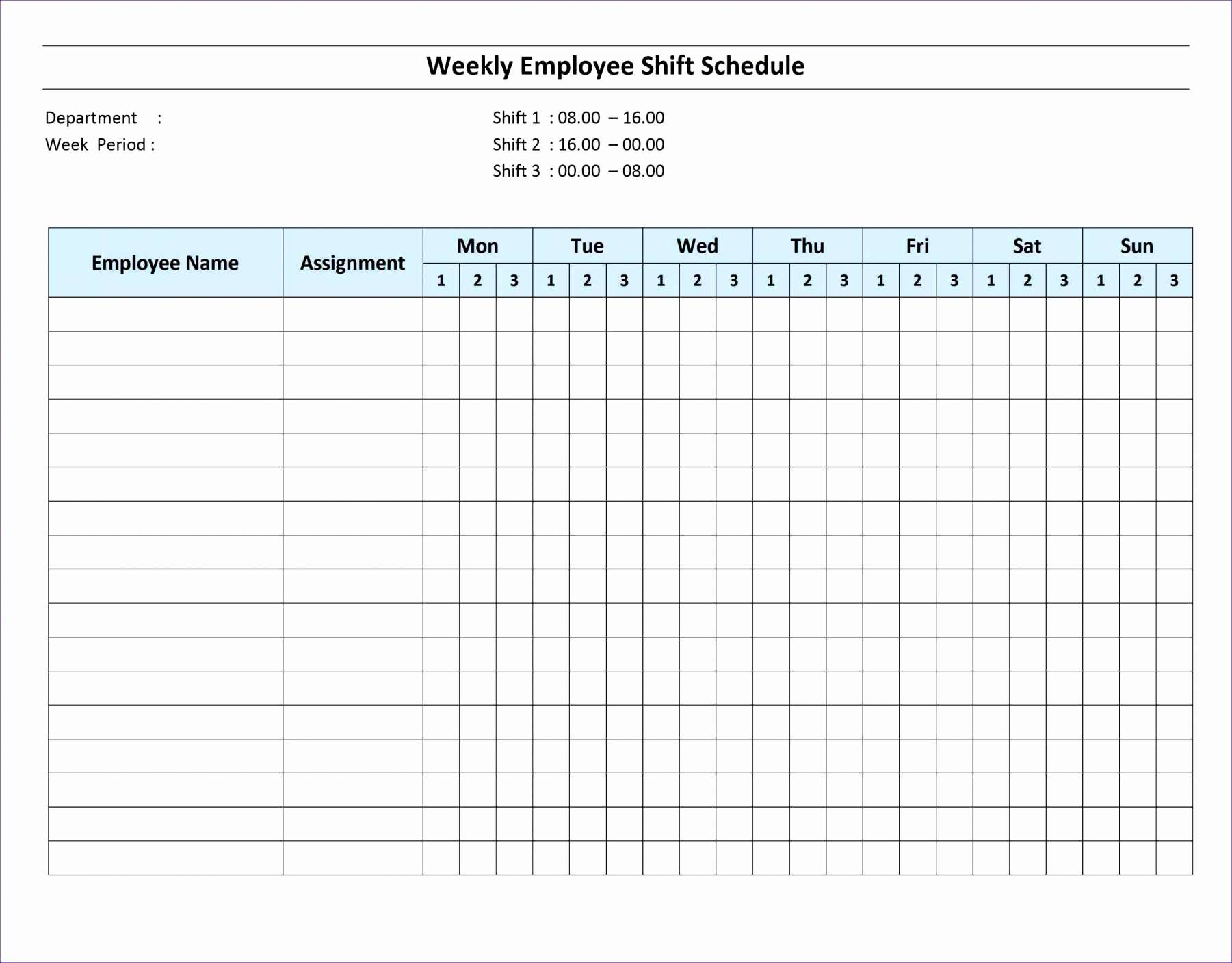 Training Schedule Template For Excel