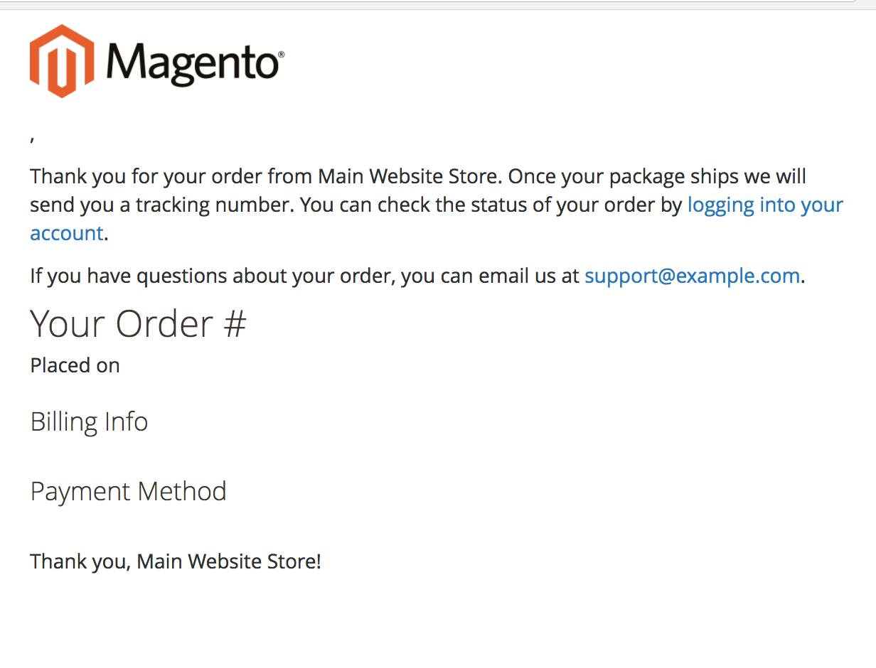 Transactional Email Templates Magento