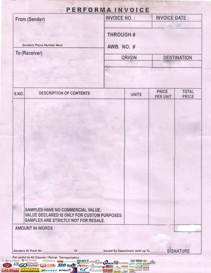 Transport Invoice Templates