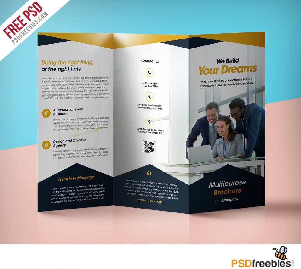 Tri Fold Brochure Folding Template