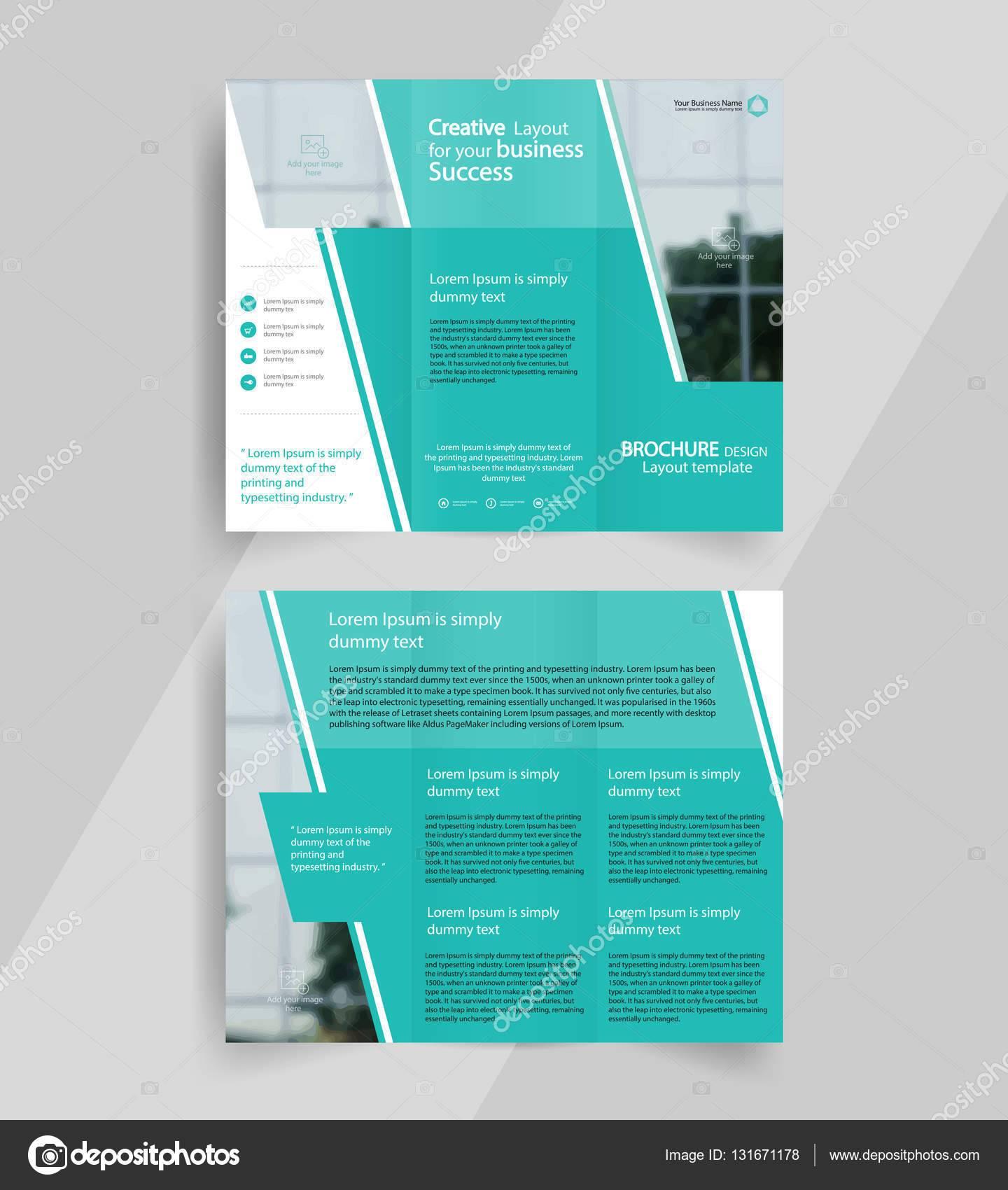 Tri Fold Brochure Layout Template