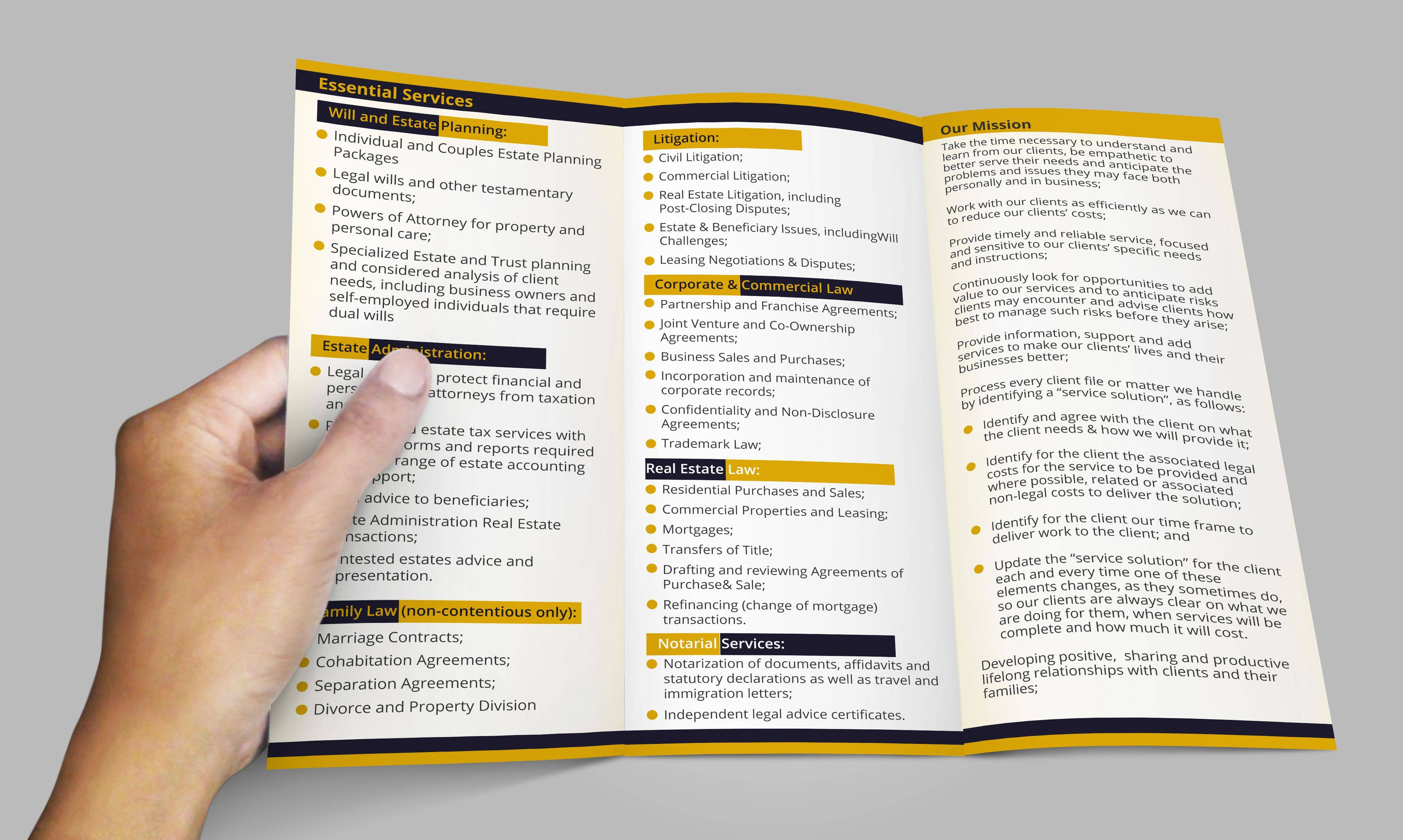 Tri Fold Brochure Template 8.5 X 11