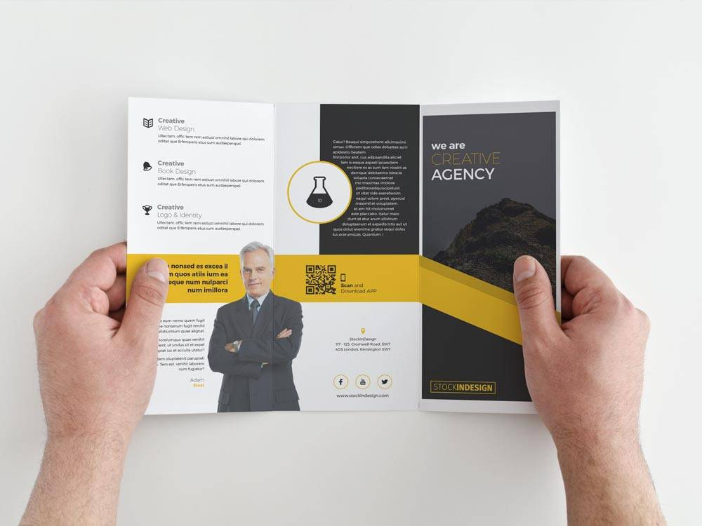 Tri Fold Brochure Template Free Download Indesign