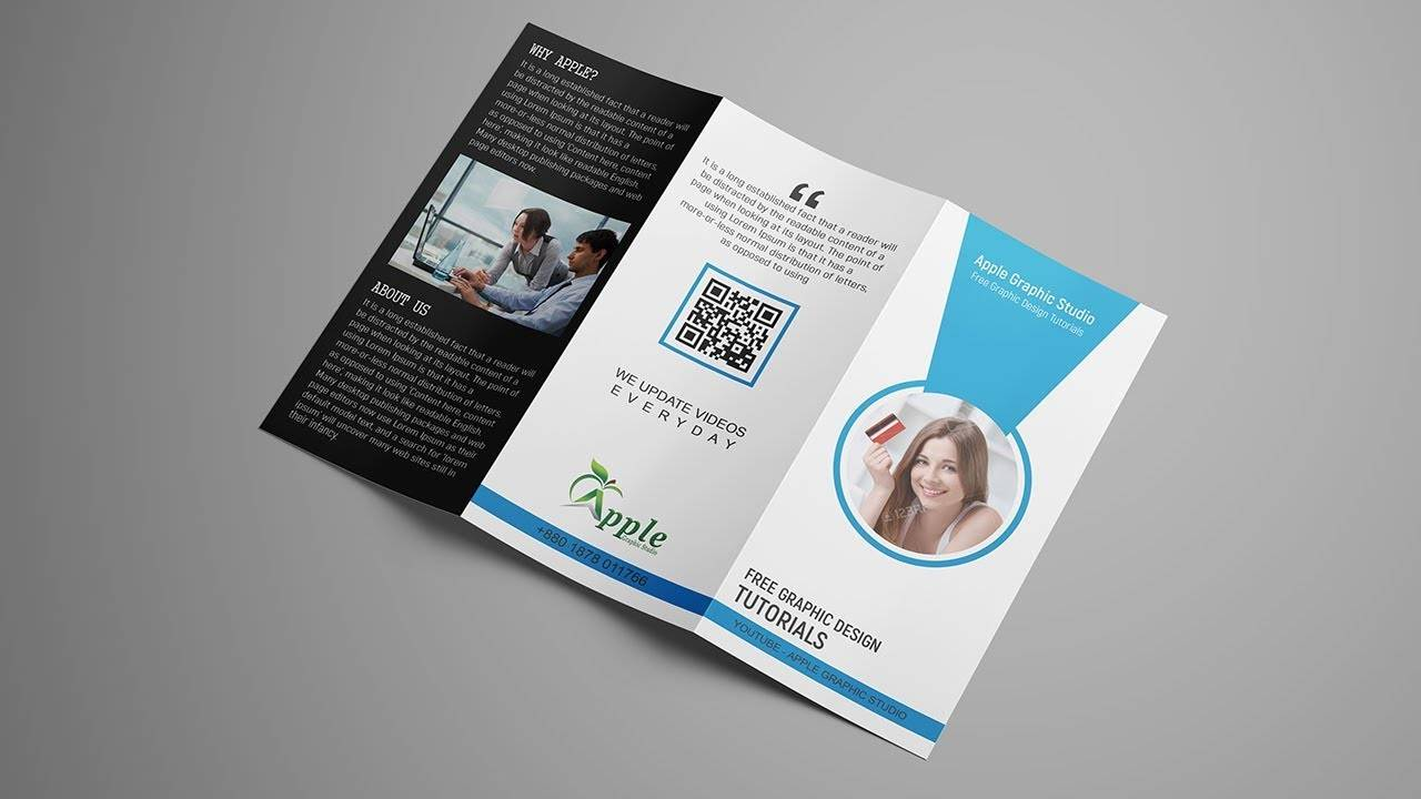 Tri Fold Brochure Template Photoshop
