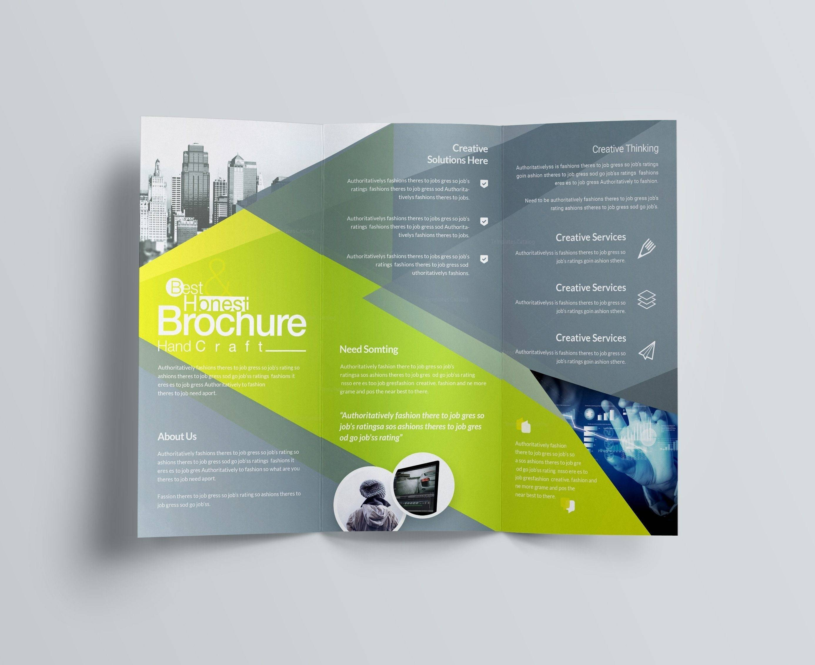 Tri Fold Brochure Template Publisher
