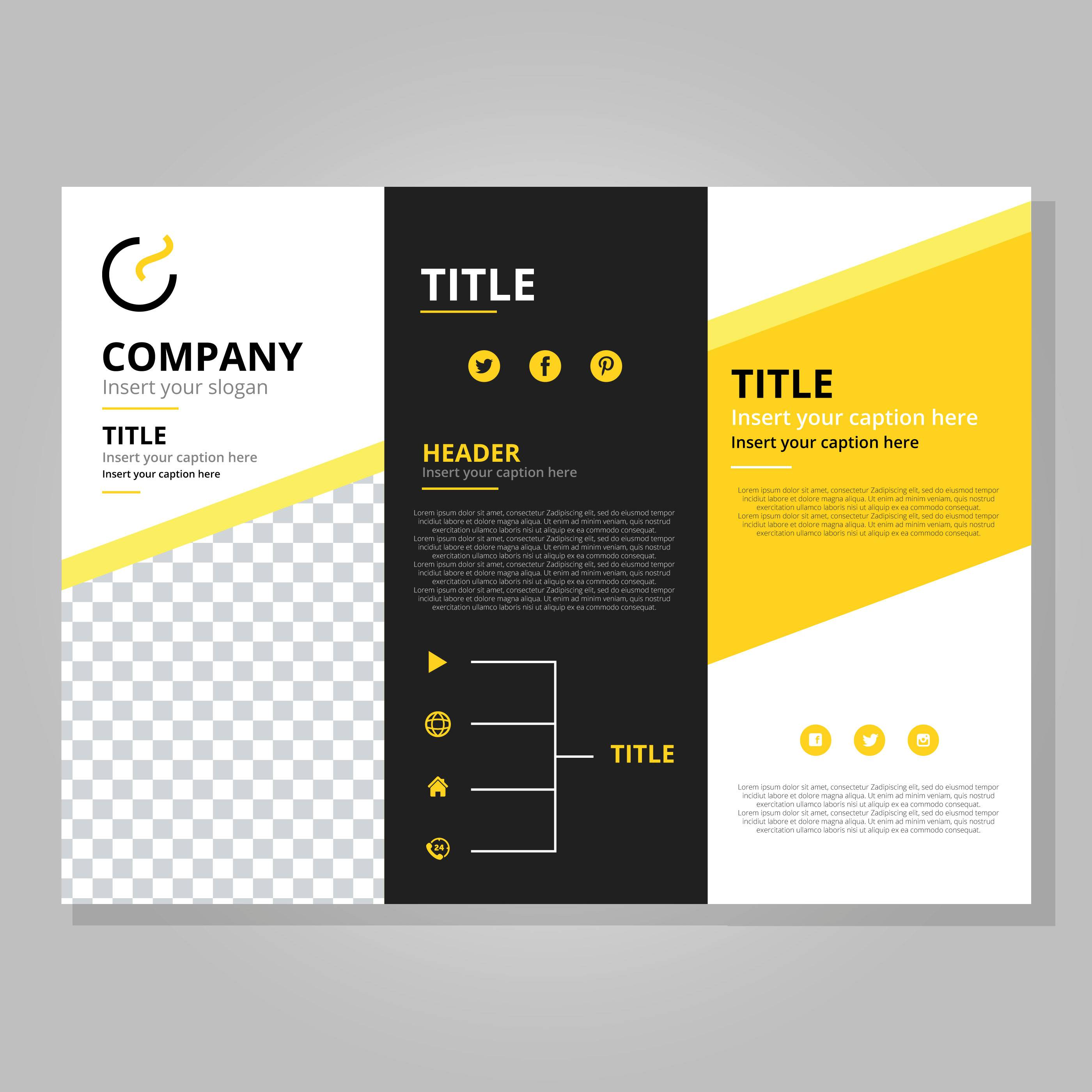 Tri Fold Brochure Template Vector Free Download