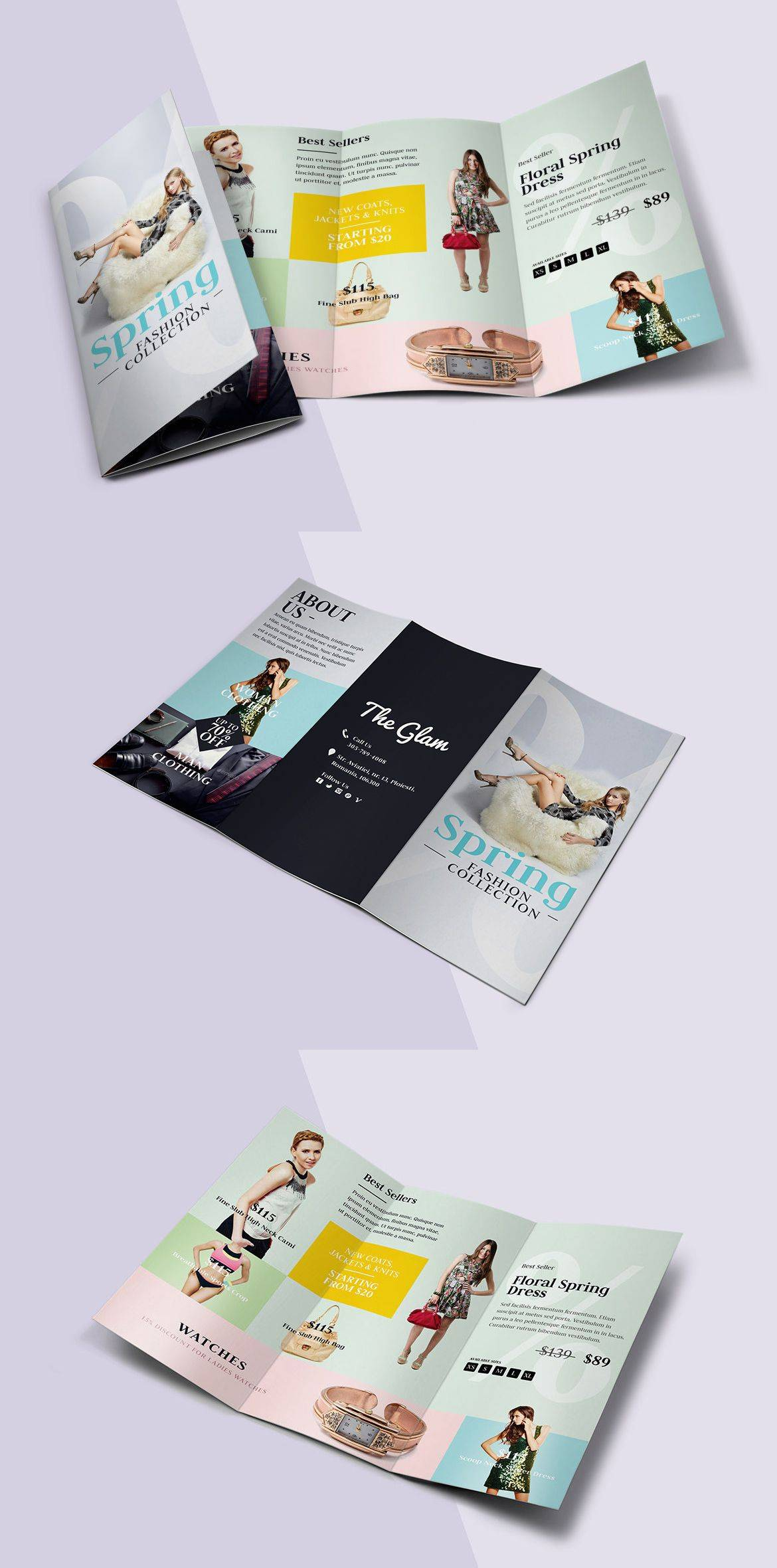 Tri Fold Brochure Templates Psd