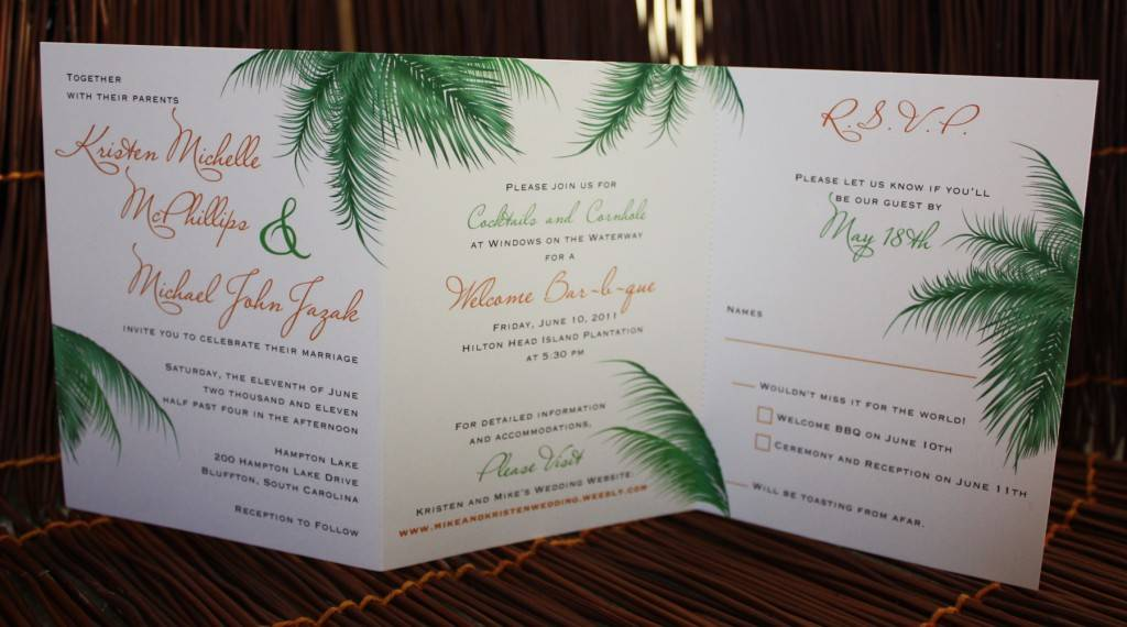 Tri Fold Wedding Invitation Template