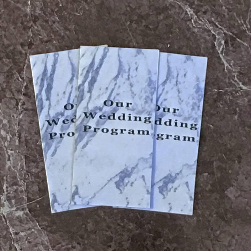 Tri Fold Wedding Program Template Free