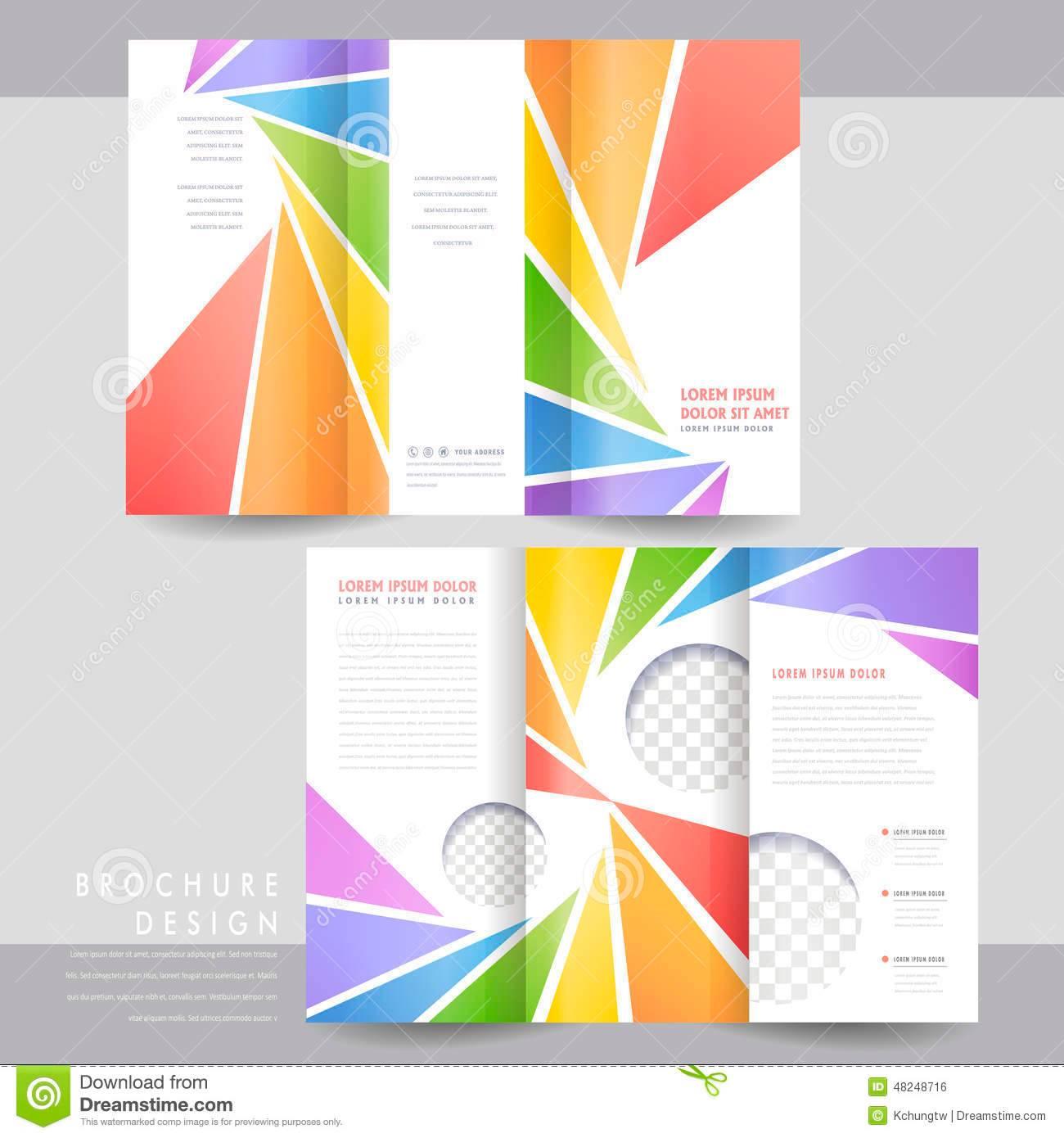 Triangular Folding Brochure Template Download