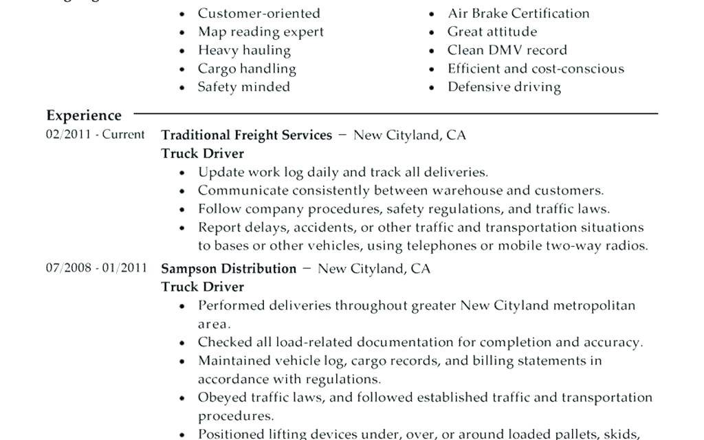 Truck Driving Job Description Template