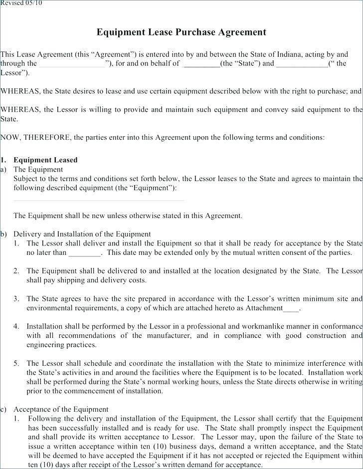 Truck Lease To Buy Agreement Template