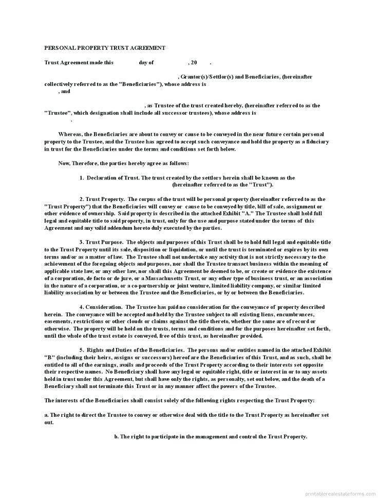 Trust Deed Amendment Template