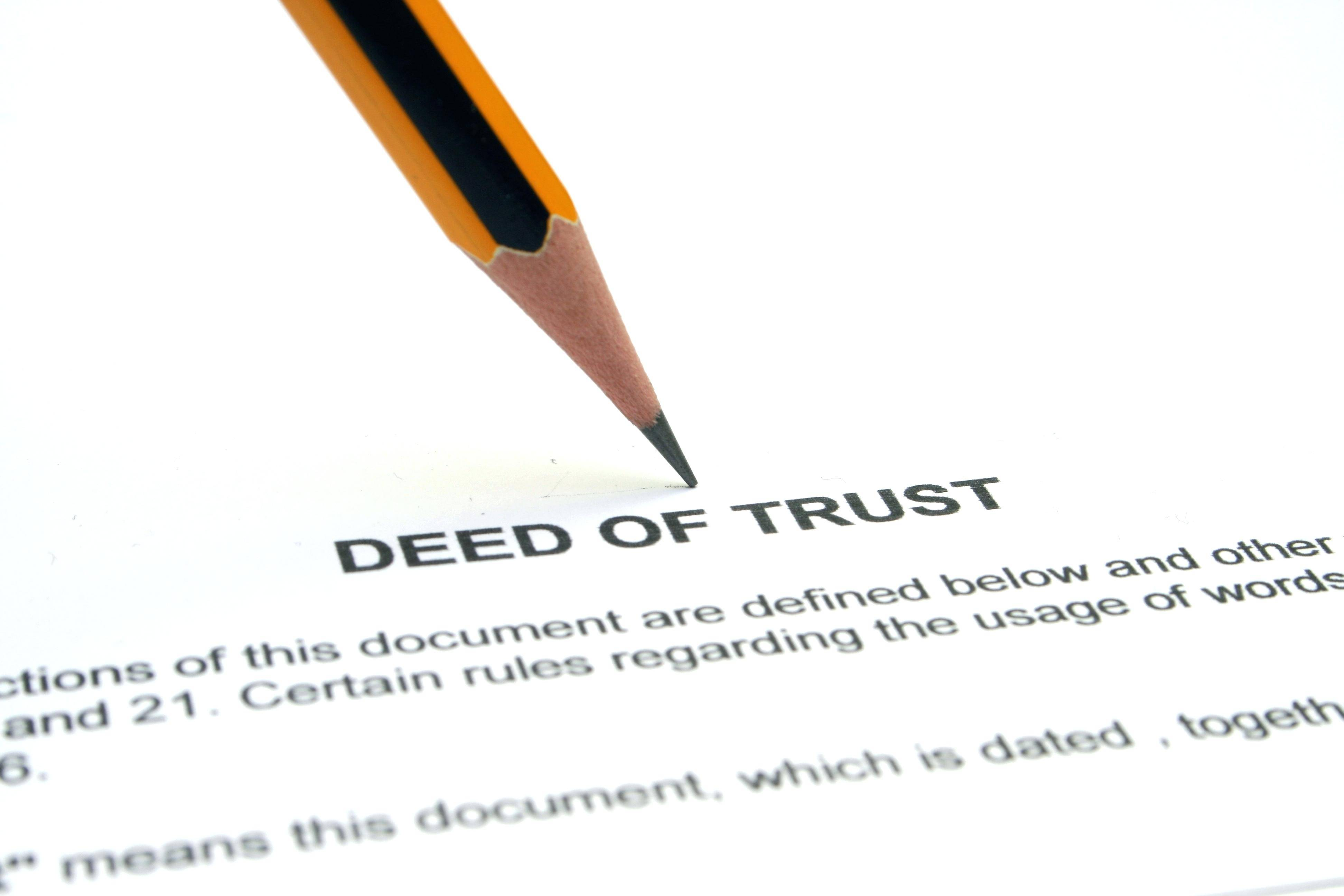 Trust Deed Document Uk