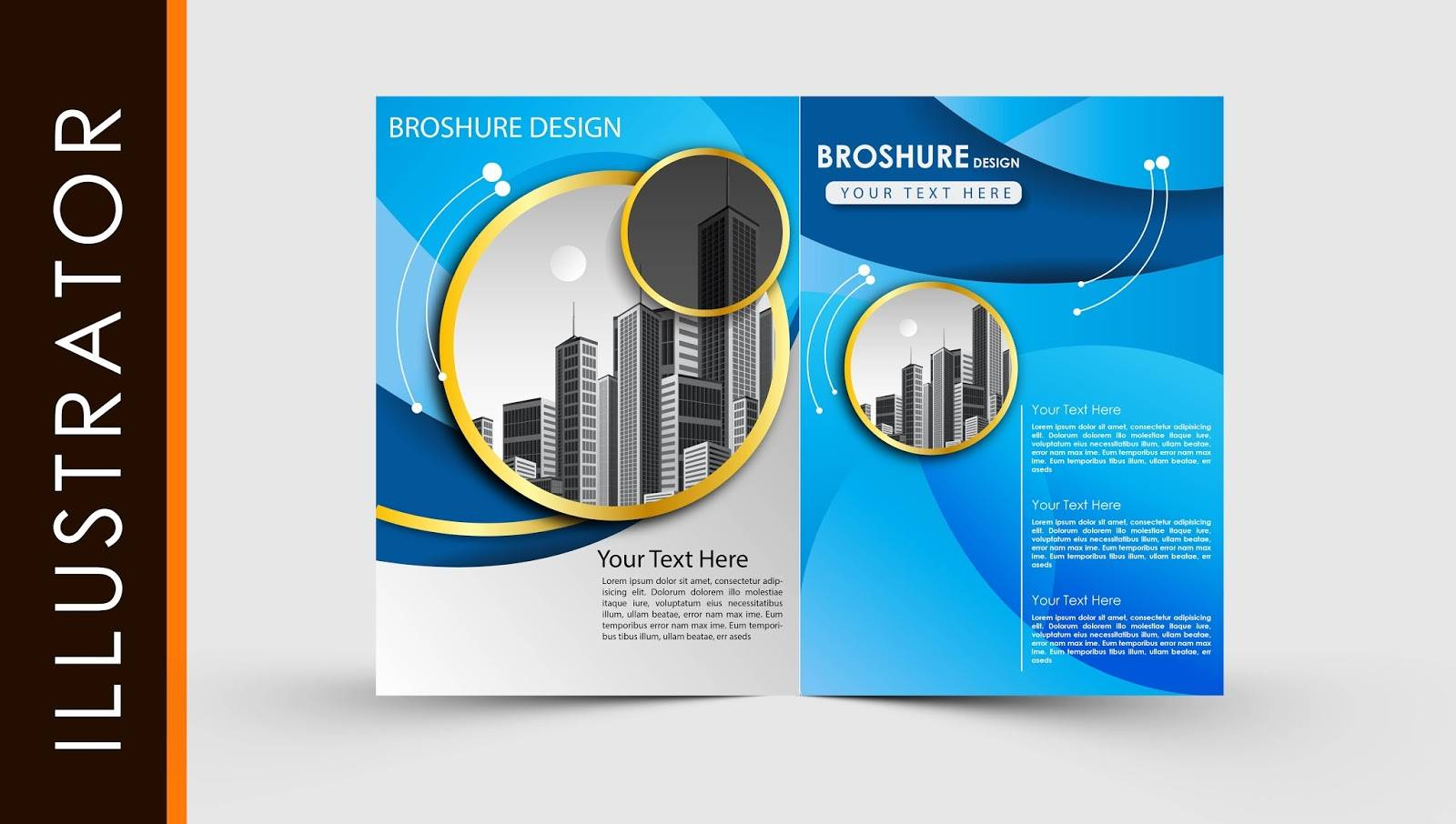 Two Fold Brochure Template Free
