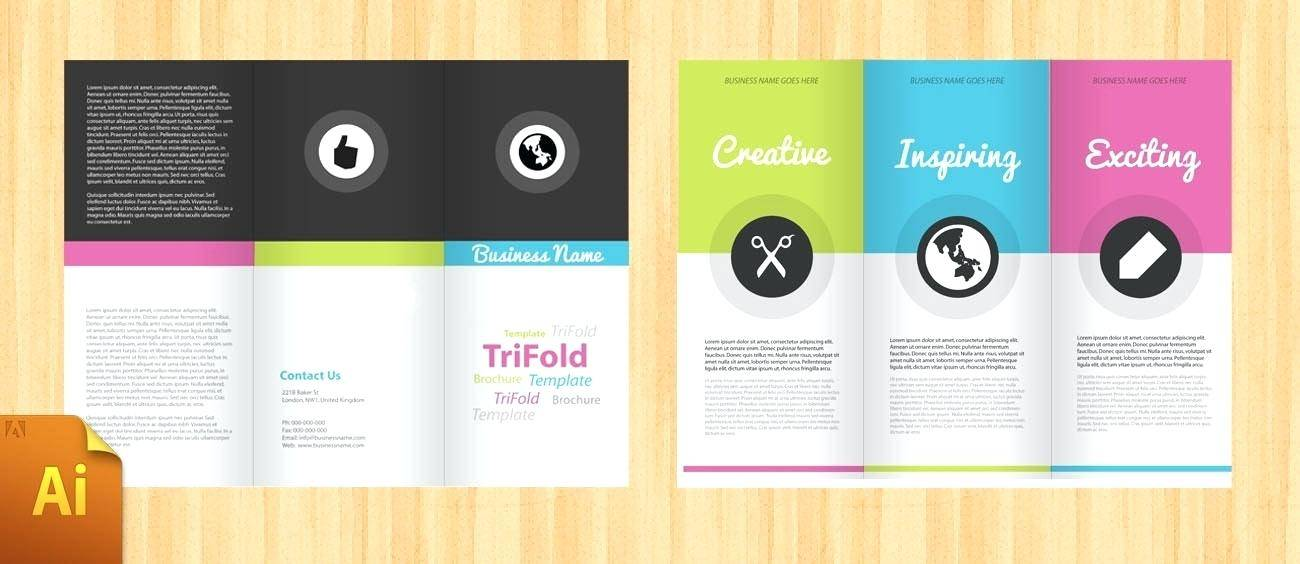 Two Fold Brochure Template Photoshop
