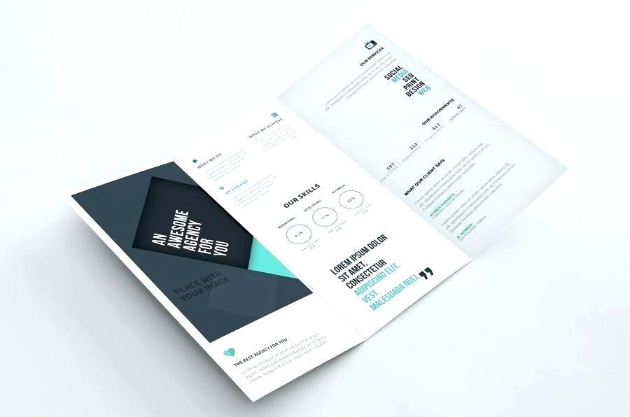 Two Fold Brochure Template Psd Free Download