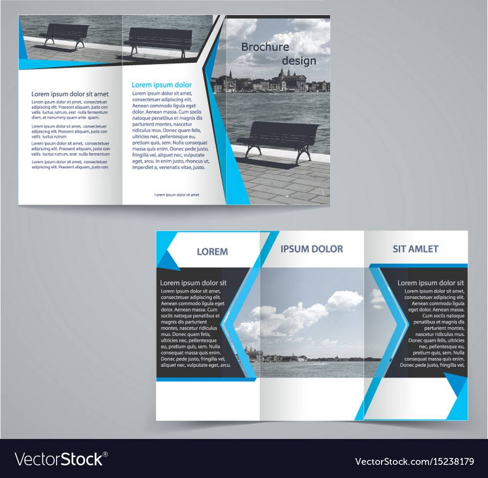 Two Sided Tri Fold Brochure Template