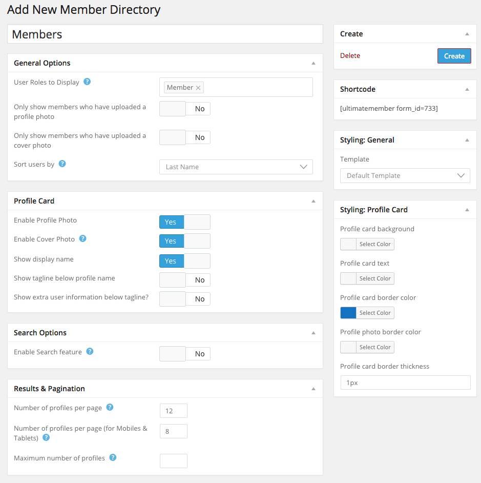 Ultimate Member Directory Template