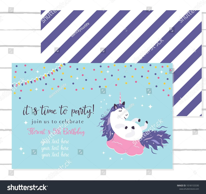 Unicorn Baby Shower Invitation Template Free