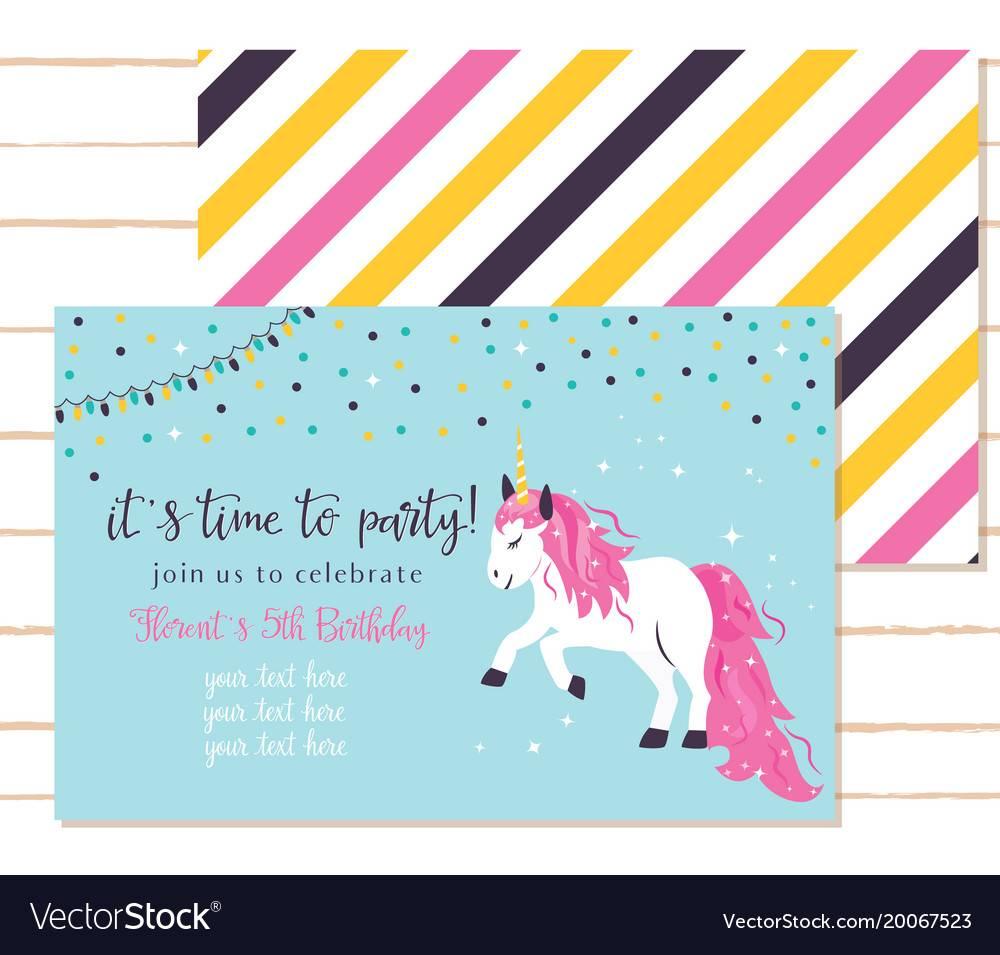 Unicorn Baby Shower Invitation Template