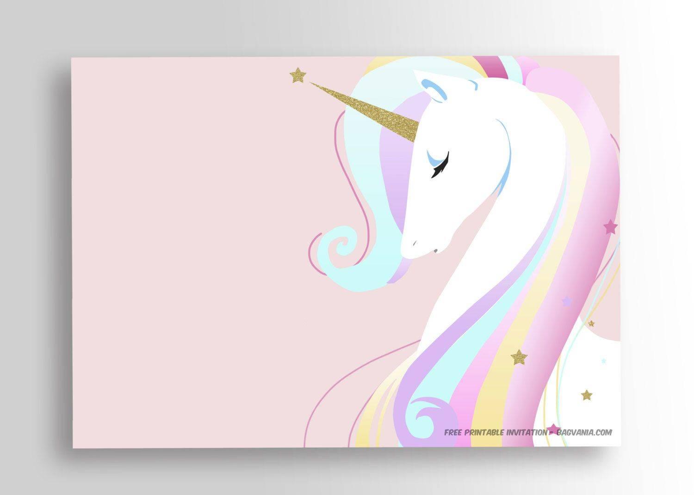 Unicorn Birthday Invitations Free Template
