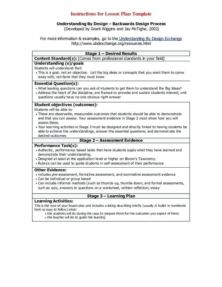 Universal Design For Learning Lesson Plan Examples