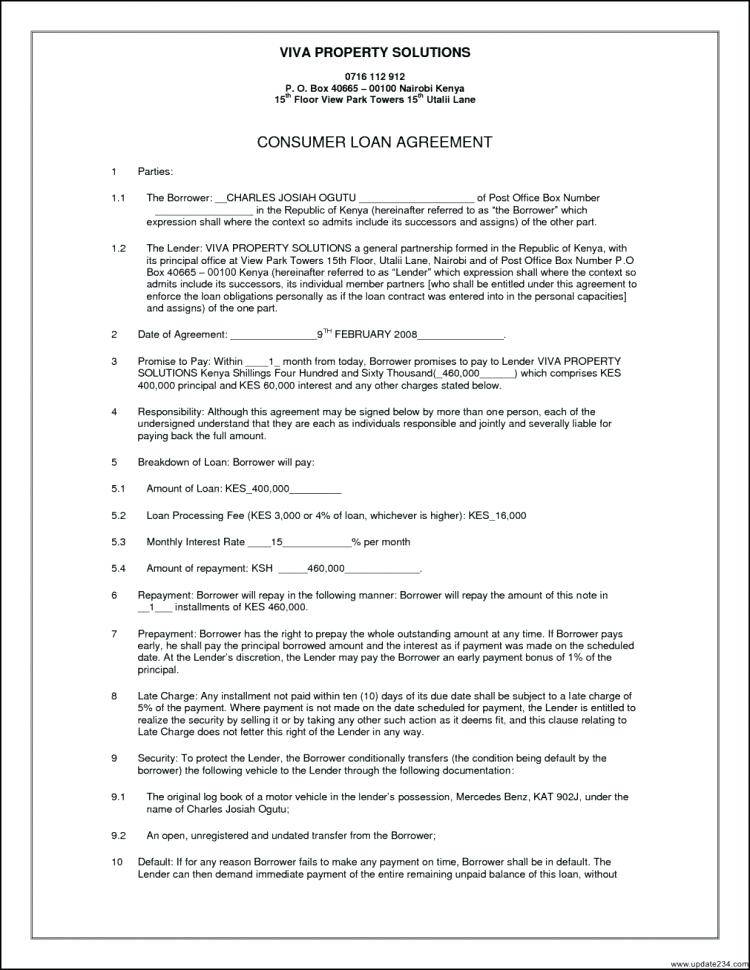 Unsecured Directors Loan Agreement Template