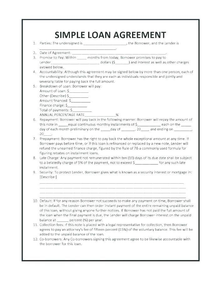 Unsecured Loan Document Template