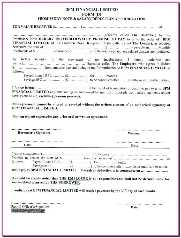 Unsecured Lump Sum Promissory Note Template