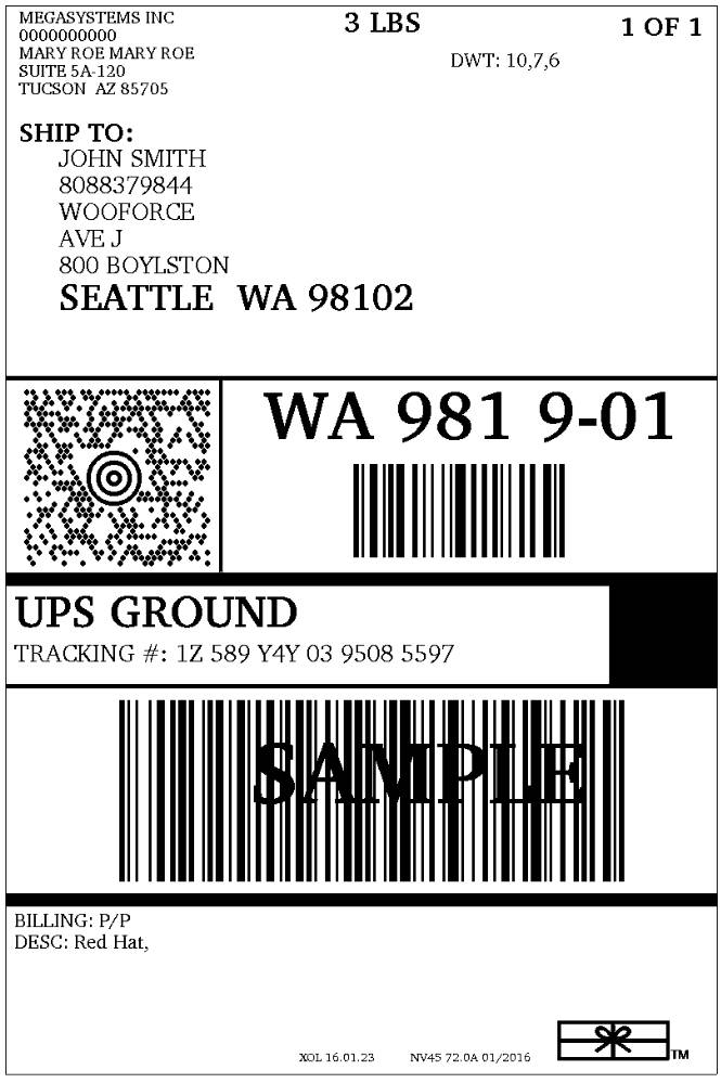 Ups 4×6 Label Template