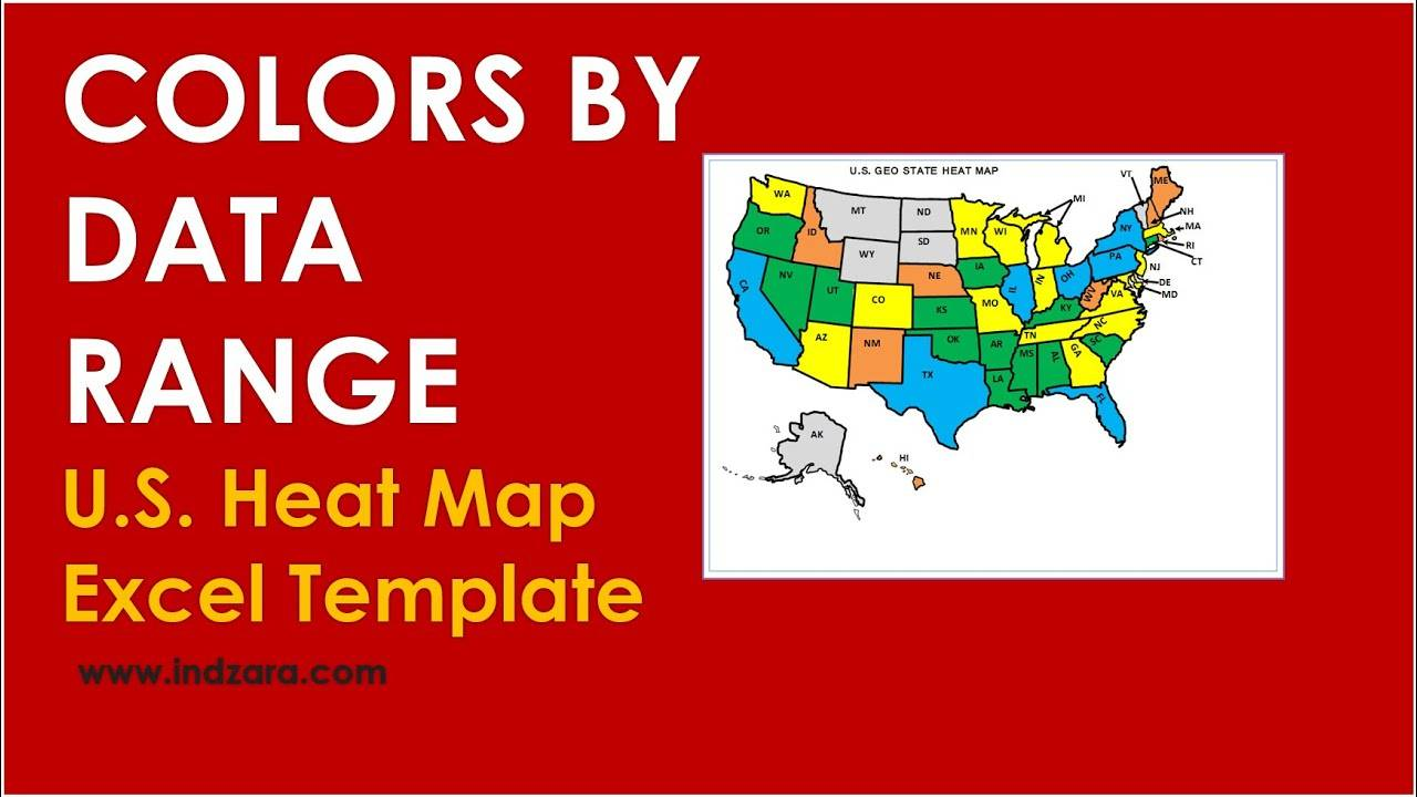 Us Geographic State Heat Map Excel Template
