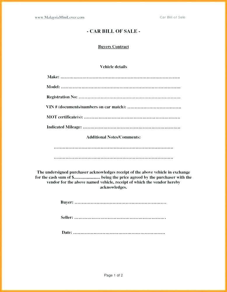 Used Car Dealer Contract Forms
