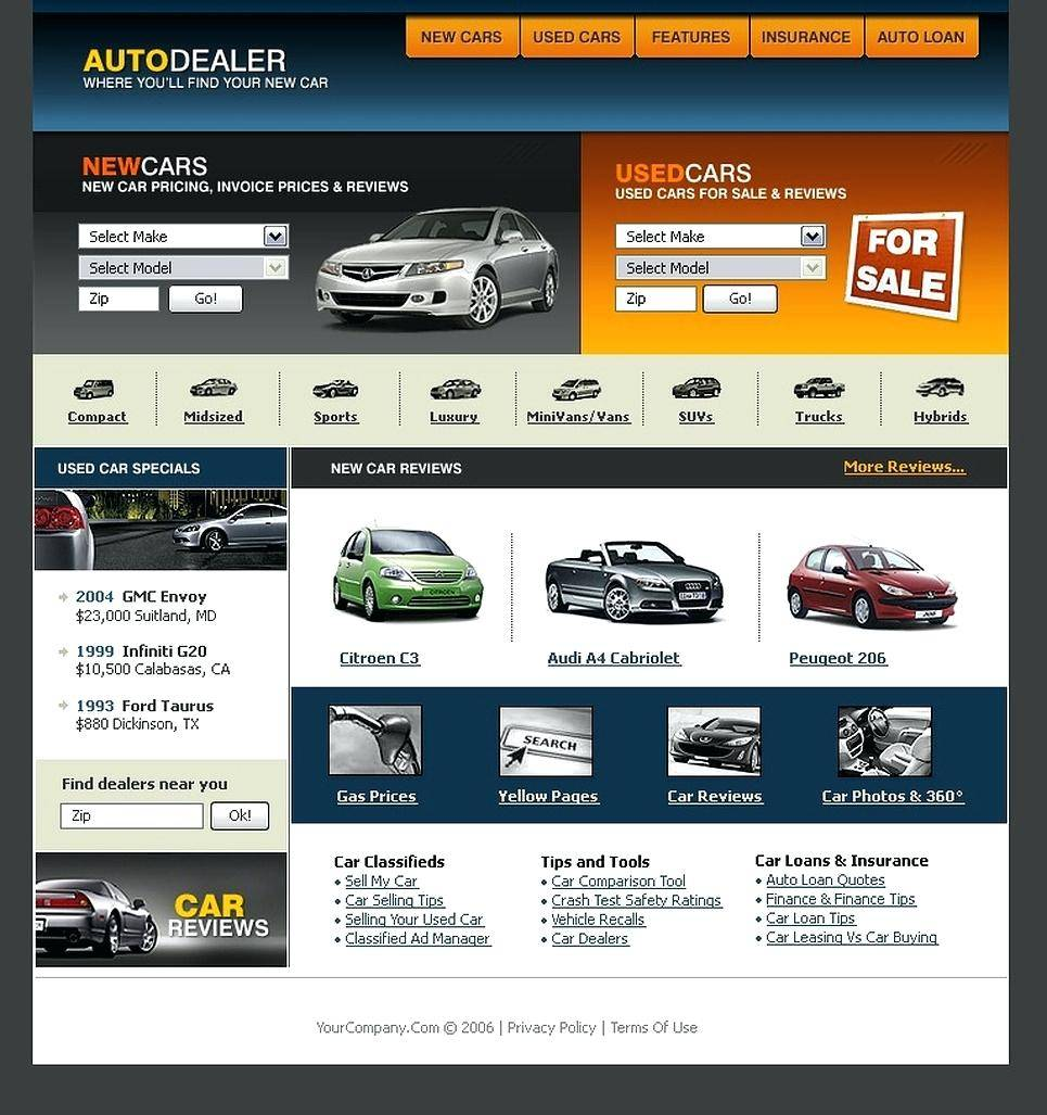 Used Car Website Template