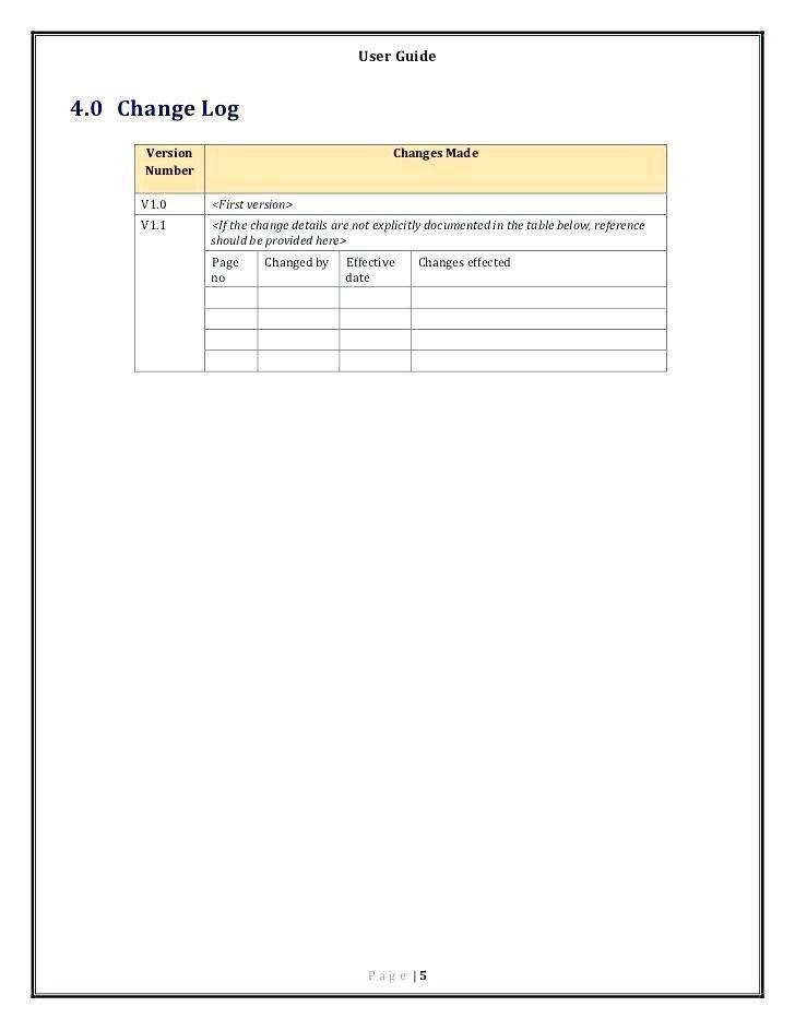 User Manuals Templates