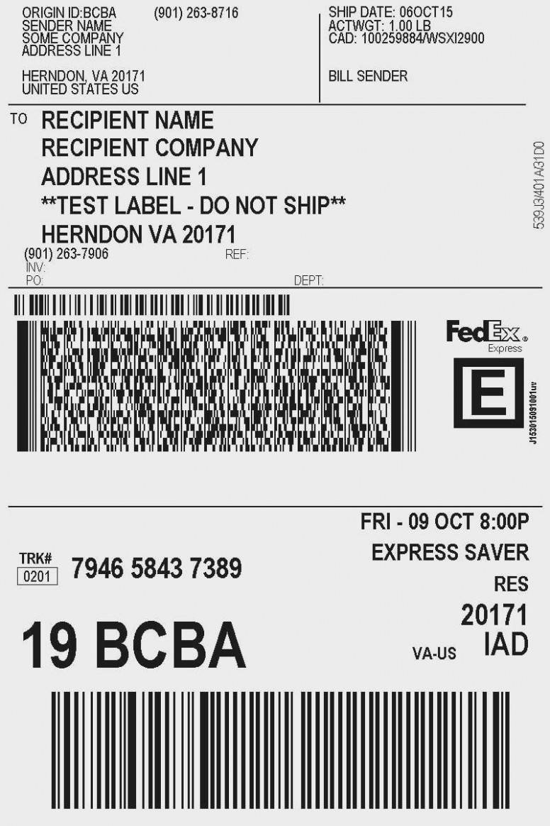 Usps Express Mail Label Template