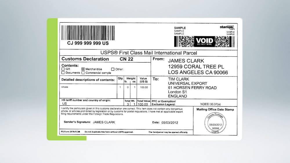 Usps International Mailing Label Format