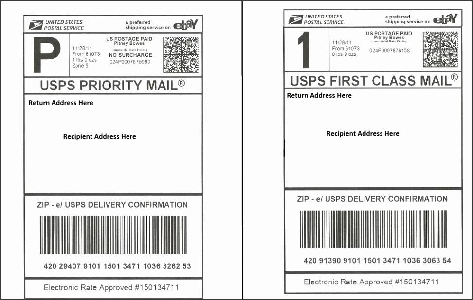Usps Shipping Label Template Free
