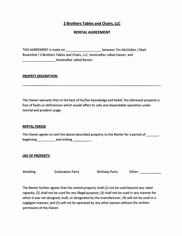 Usufruct Agreement Form